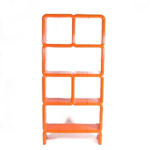 Joe Colombo Umbo Shelving Unit - A vibrant vintage tangerine Joe Columbo Umbo for Kartell shelving unit in excellent original condition. Unit can be configured in many ways with ease .... so fun, so Columbo!