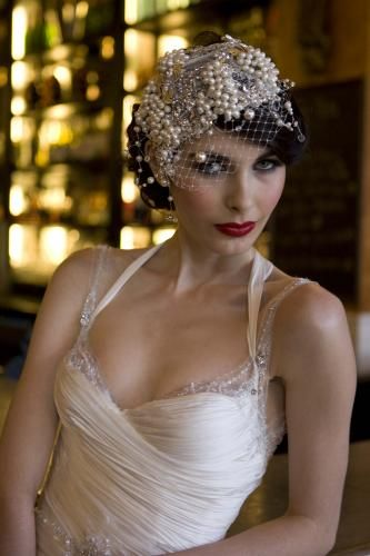 Oh em gee. Everything about this has my name on it. 1920's!!! Need that dress and headpiece!! <3