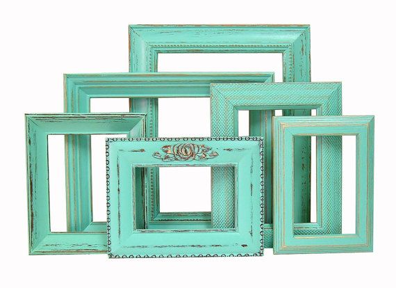 This would be really cool to just hang neat painted vintage frames in a collage-type way every week just the same, but to throw different pictures behind them each week from recent happenings in the life of the church :)