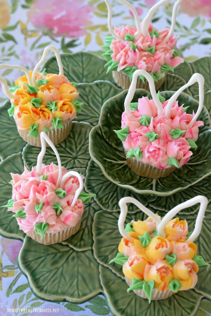 Blooming Bunny Ear Cupcakes are a sweet ending for Easter or fun to hop over to your spring dessert table! These Blooming Bunny Cupcakes are as fun to make as they are to eat! I used some Russian P…
