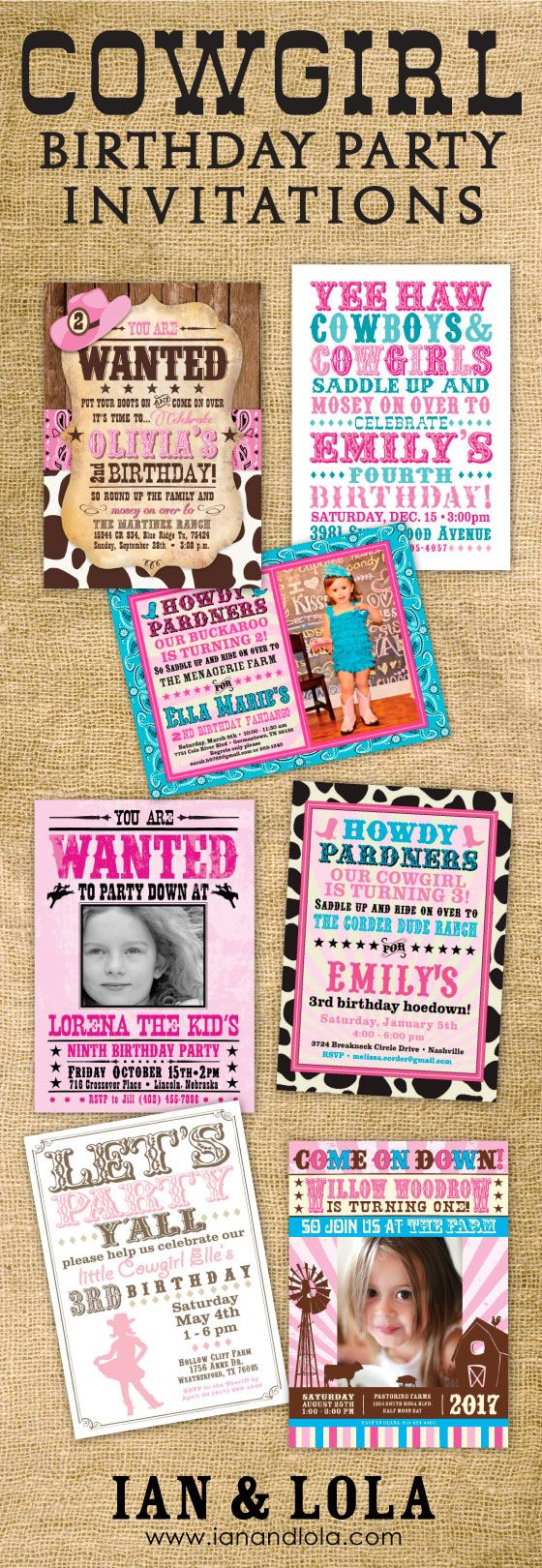 Cowboy party ideas goodtoknow - Bandana Burlap Rustic And Western Shop For Cute And Fully Customizable Cowgirl And Farm Style Birthday Party Invitations At Ian And Lola