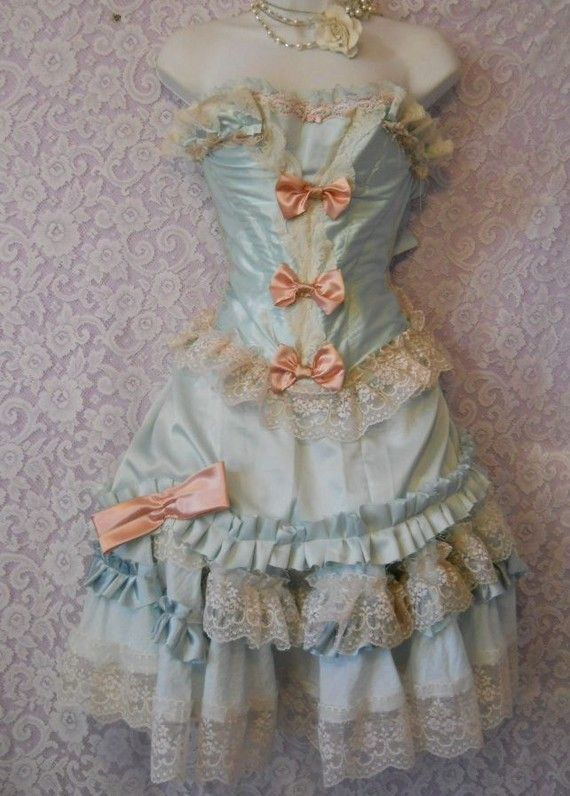 Marie Antoinette dress  So pretty.  Which they would have like a Marie Antoinette shabby chic fest..like they do with the Renaissance fairs...bummer.