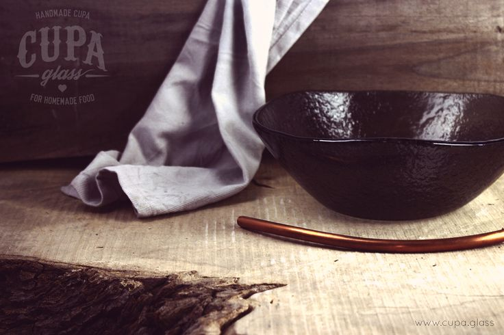 #Rustic #Handmade #Bowl  Gray glass bowl by www.cupa.glass