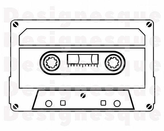 Cassette Tape Outline Svg Audio Cassette Svg Audio Tape Svg Etsy In 2021 Cassette Tapes Clip Art Cricut Projects Vinyl