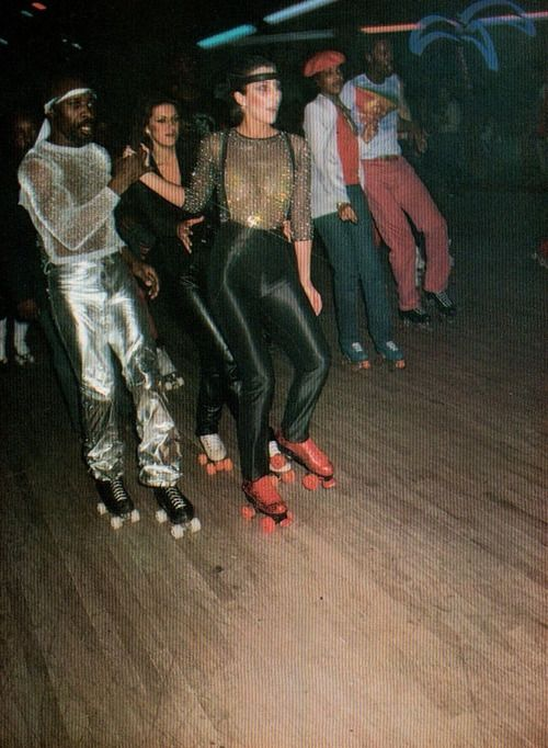 Cher at the roller disco… @Jennifer Adams, @Jennifer Cardello...Mad Cows need this look!!!