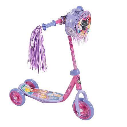 Toddlers, Kids 3 Wheel Wheeled Disney Princess Kick Scooter
