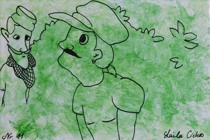 "Artmoney - unique piece of art doubling as a gift card ""Green money 11"""
