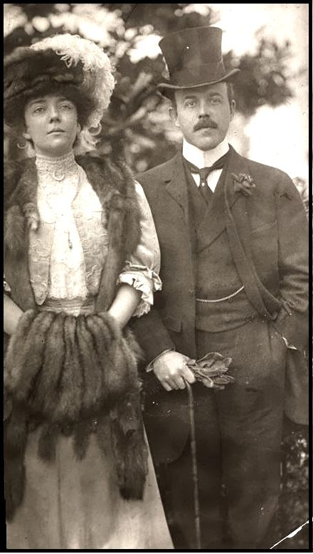 Alice Roosevelt Longworth and Nicolas Longworth in 1906