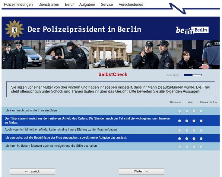 ´Hände hoch!´ Per Selbsttest herausfinden, ob man zur Polizei passt. Berliner Polizei macht es möglich.