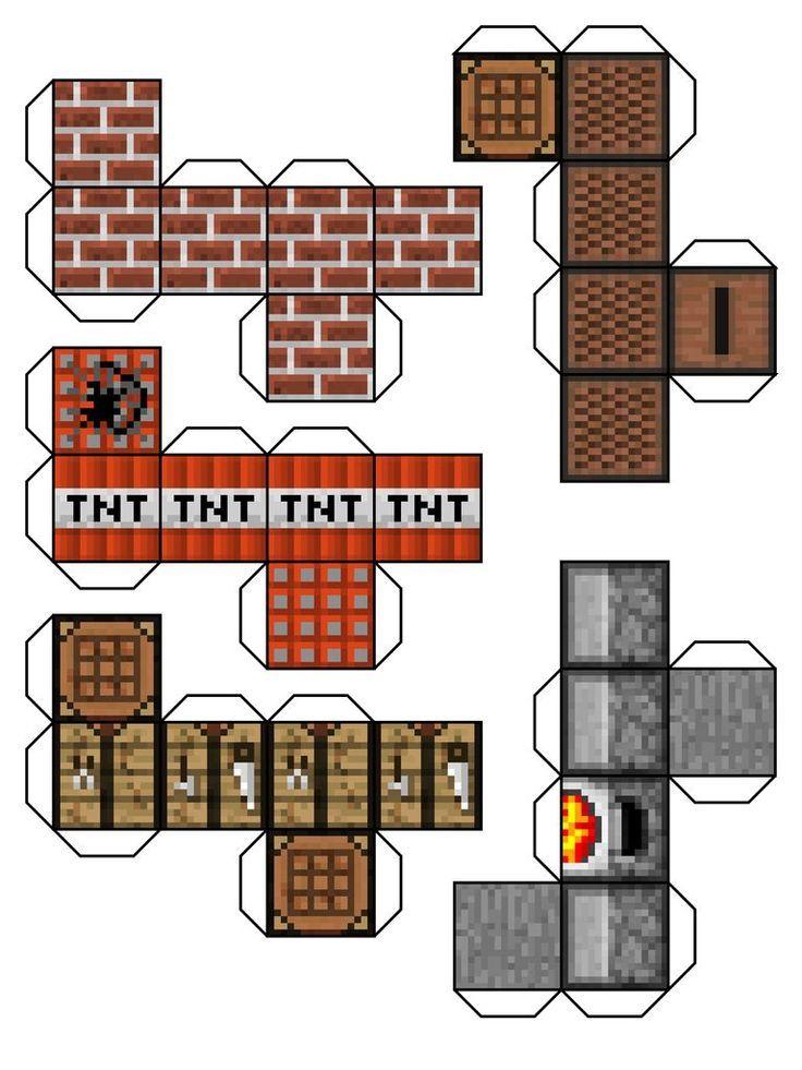 caixinhas  kit festa minecraft