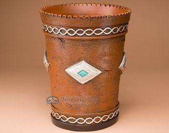 "Rustic Native Waste basket 10"""" -Navajo (wb4)"