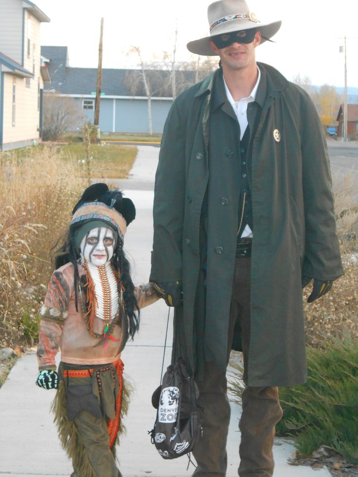 Lone Ranger and Tonto, Father/son costume.