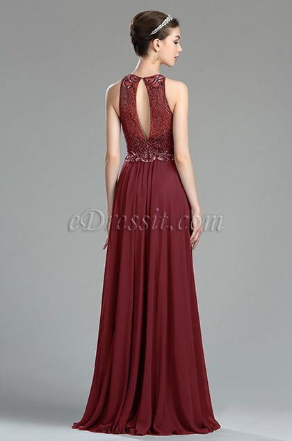 7dbb238a86d Burgundy Beaded Sequin Evening Dressing Gown (36181117) in 2019 ...