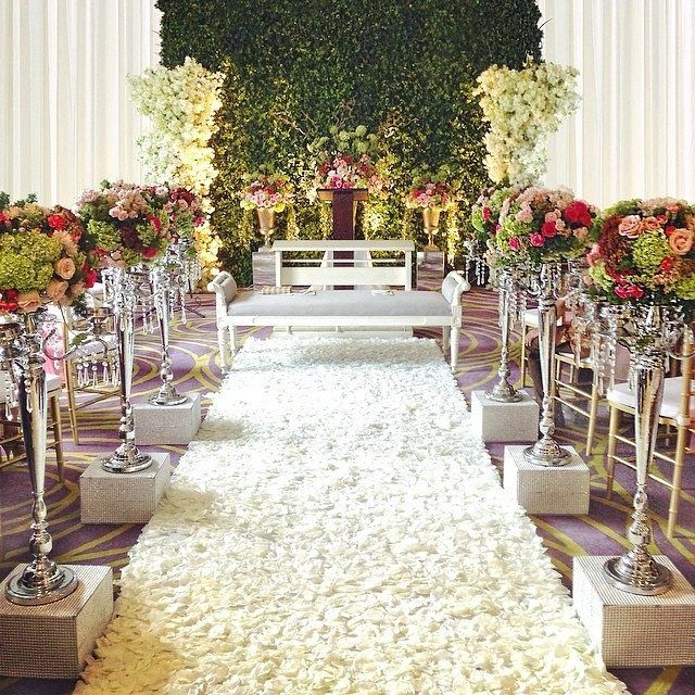 529 best aisle style images on pinterest aisle style flower light airy and so cheerful by love this aisle in shades of pink flowers at legian room gran melia hotel jakarta junglespirit
