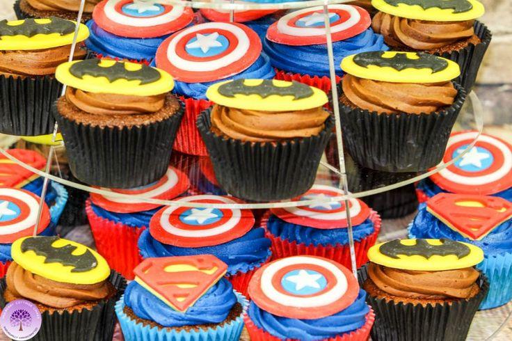 Superhero Cupcakes, Superman, Batman and Captain America - Download