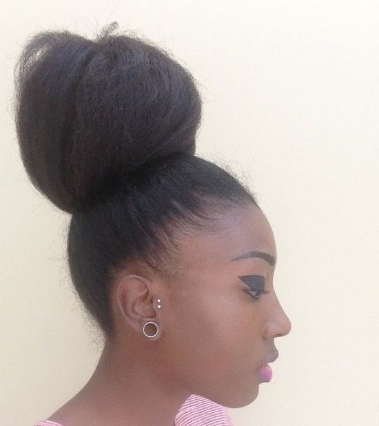 high bun hairstyles for black girls | Women Hairstyles Ideas…