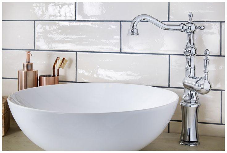 The miro sit-on basin with regent tall basin monobloc mixer #bathroomfurniture