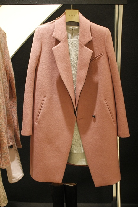 light pink coat (wool + cashmere) #현대백화점