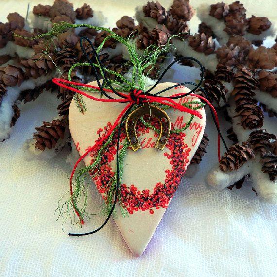Vintage Christmas gift good luck charm Christmas by kosmobysoul