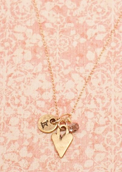 I love the simplicity of this necklace, yet you can still customize it with your initial.