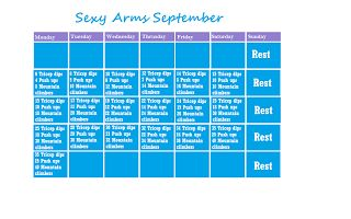 sexy arms September workout challenge