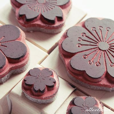 Blumen Stempel by letteria, via Flickr