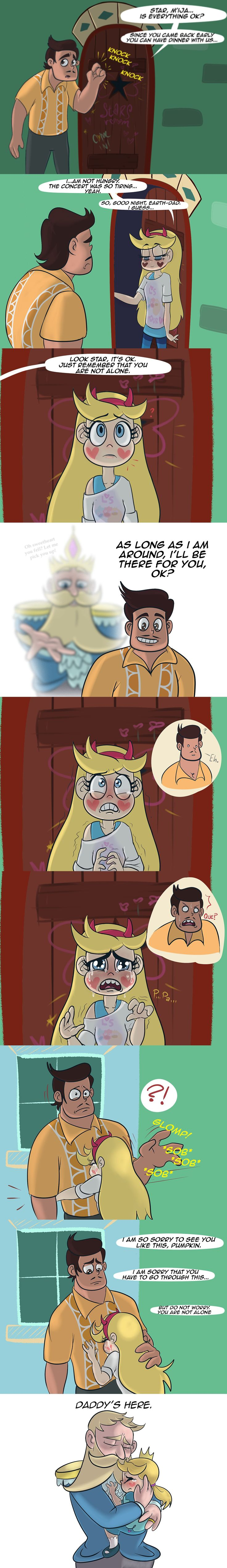 Star has a more positive relationship with her dad than with her mom, I think.