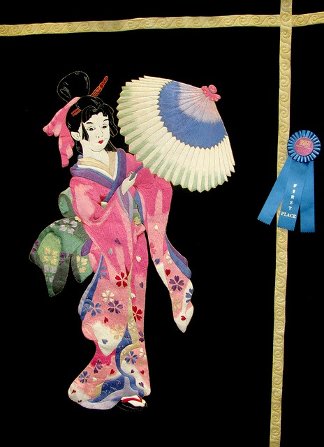 This geisha quilt was just one of the many intricate designs in the 2012 Quilt Expo Quilt Contest.