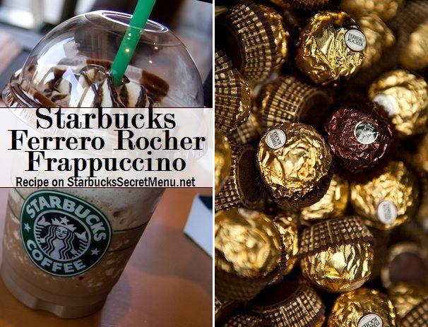 Starbucks Ferrero Rocher Frappuccino! #StarbucksSecretMenu Recipe here: http://starbuckssecretmenu.net/starbucks-secret-menu-ferrero-rocher-frappuccino/
