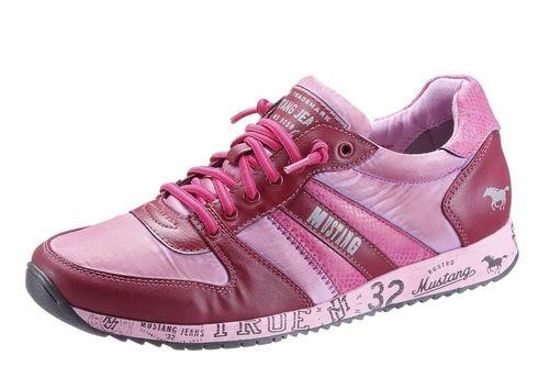 #MUSTANG #Damen #Slipper #pink #/ #rot - Mustang Slipper aus Textil und Lederimitat, Futter: Textil, Innensohle: Textil, Laufsohle: Synthetik, Schuhweite: normal (Weite F), Gummizug, gepolsterter Schaftrand.