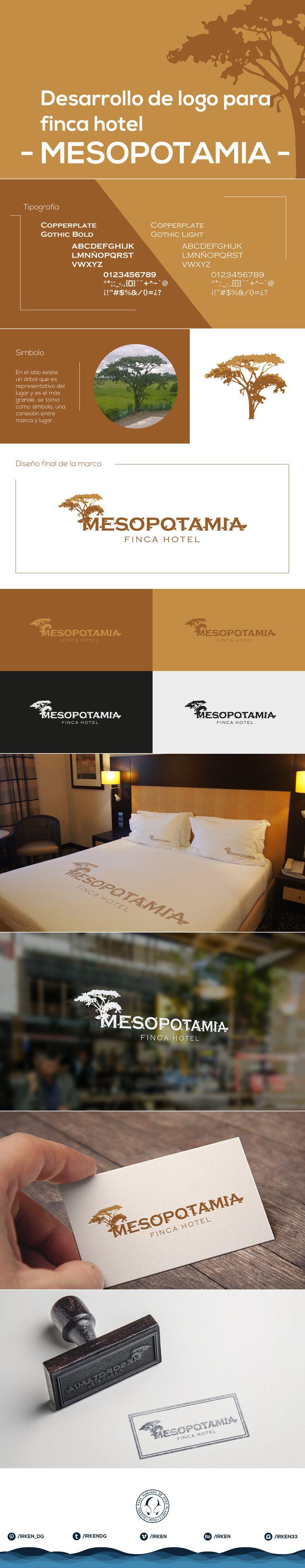 Desarrollo de marca MESOPOTAMIA -finca hotel-  . . . #marca #logo #logotipo #irken #diseño #design #proceso #process #desarrollo #creative #creatividad #finca #hotel
