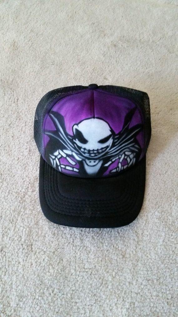 Jack Skellington Trucker Hat by StevenLaneDesign on Etsy