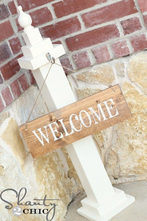 welcome signs diy - 500×750