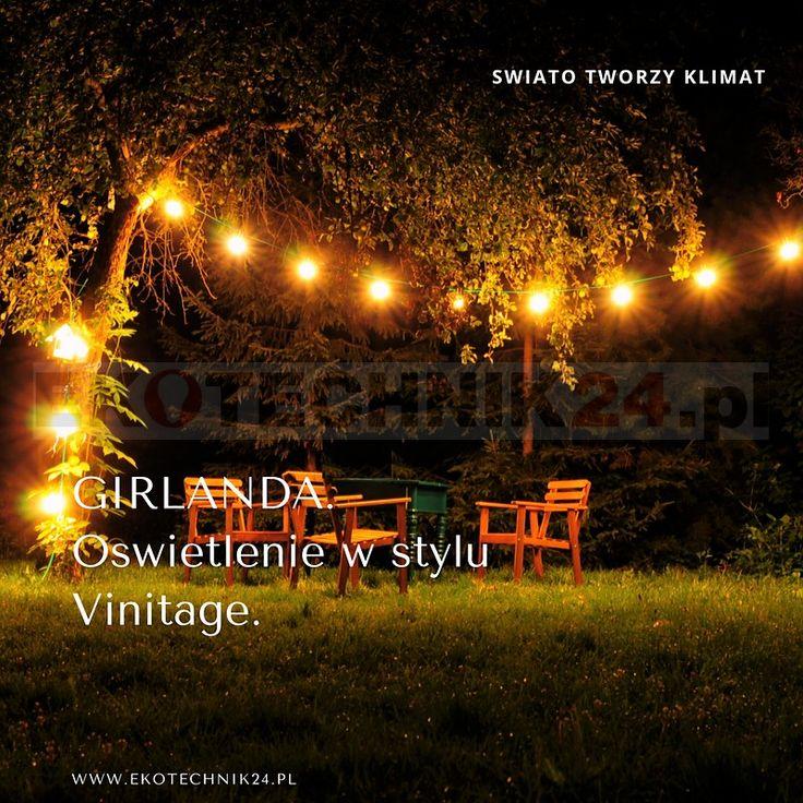 Profesjonalna GIRLANDA świetlna na żarówki E27. #ogród #ogrody #garden
