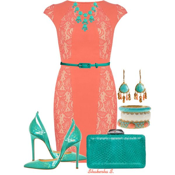 Coral And Teal Teal Coral And Polyvore