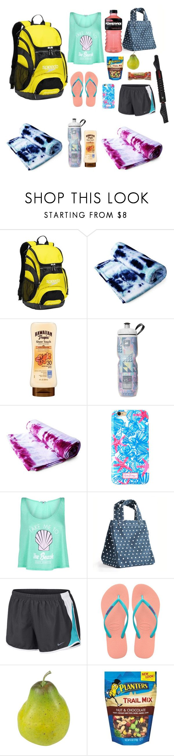 """Swim bag essential"" by s-margaret-daly on Polyvore featuring Speedo, Brika, Victoria Sport, Lilly Pulitzer, Wildfox, Maika, NIKE, Havaianas, Nearly Natural and TriggerPoint"