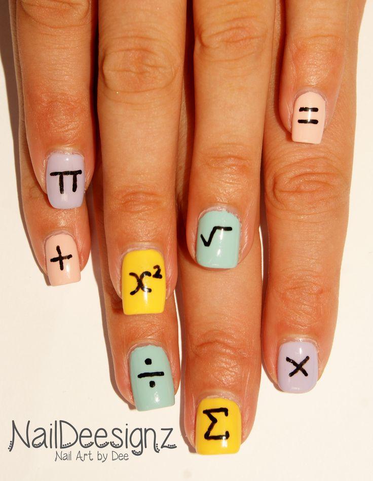 Back to School Maths Nail Art .x. http://naildeesignz.blogspot.co.uk/2016/09/back-to-school-maths-nail-art.html