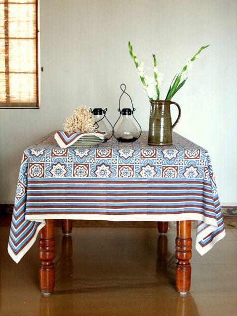 Blue Tablecloth Brown Tablecloth Beach Tablecloth Moroccan Tablecloth Tablecloth Table