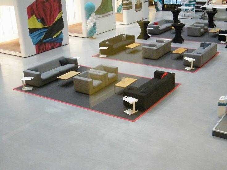 3 prachtige vloerkleden van wol tapijt geleverd bij hoofdkantoor Hema in Amsterdam. 100% projectbestendig wol tapijt, bekijk onze collectie online.