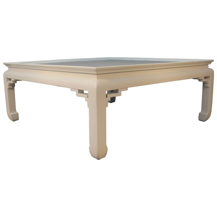 White Lacquered Asian Coffee Table