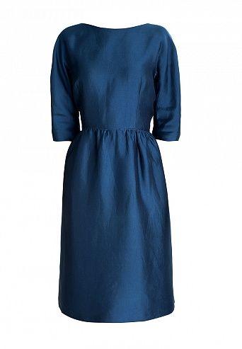 Темно-синее платье Christian Dior