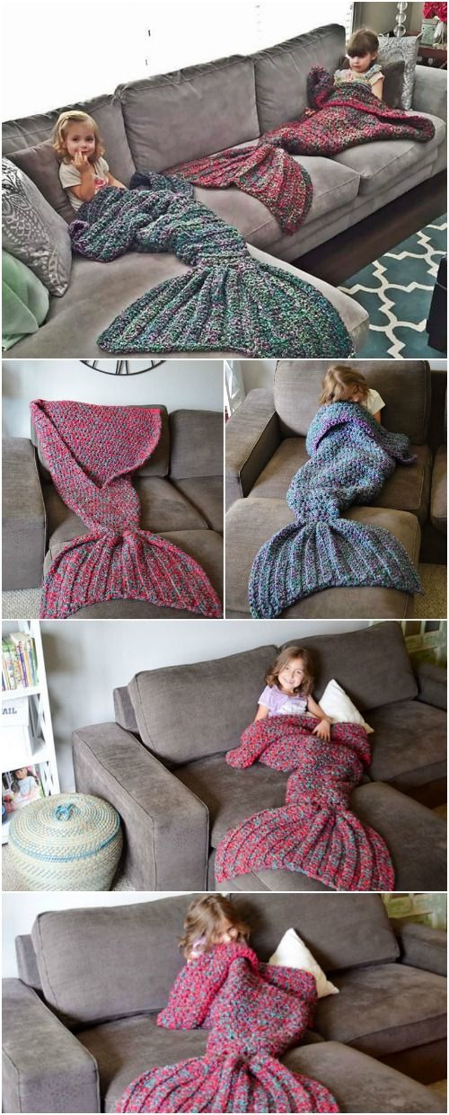 Free Crochet Pattern: Adult-Sized Mermaid Lapghan to Keep You Warm on those Chilly Nights via @vanessacrafting