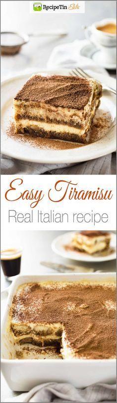 Fácil Tiramisu (com vídeo) - Autêntico receita italiana, super fácil, rica e ainda luz a 270 cal por porção!