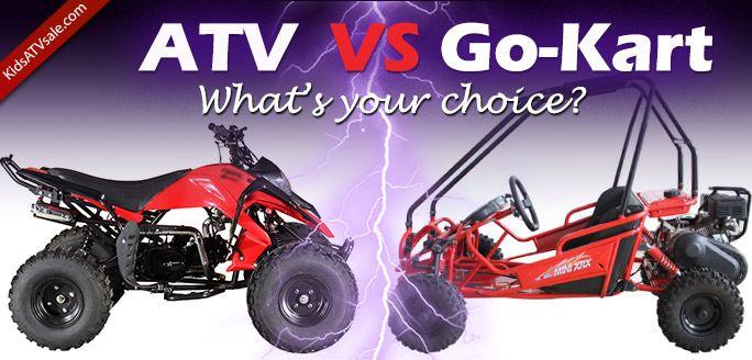 Kids ATV vs Go-Kart for kids. How to make a choice? http://www.kidsatvsale.com/kids-atvs-vs-kids-go-karts/