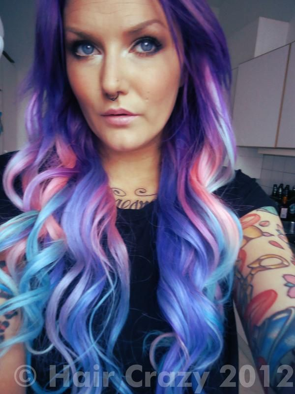 Black And Purple Hair Pinterest