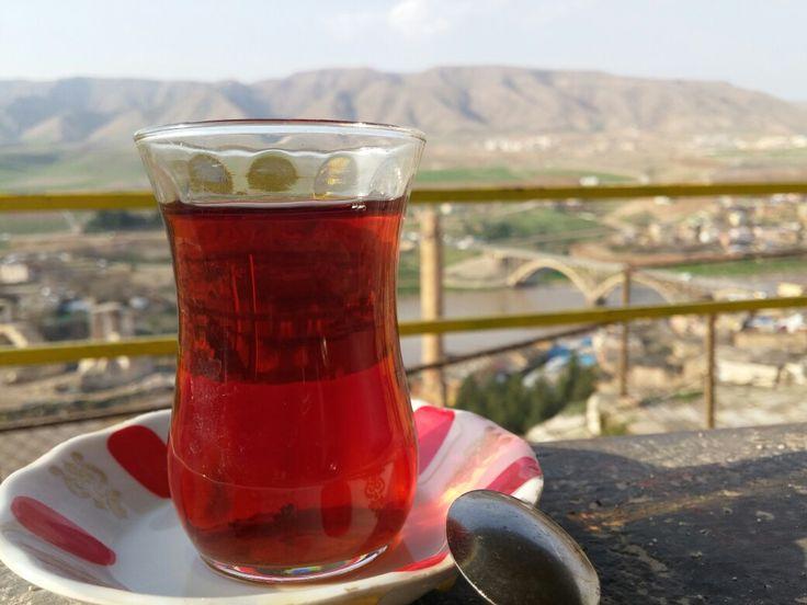 Hasankeyf'te çay aşkı
