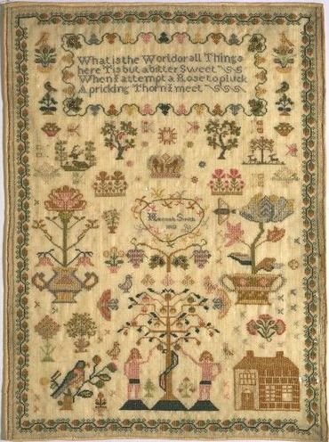 Sampler (1810)   Smith, Hannah   V Search the Collections