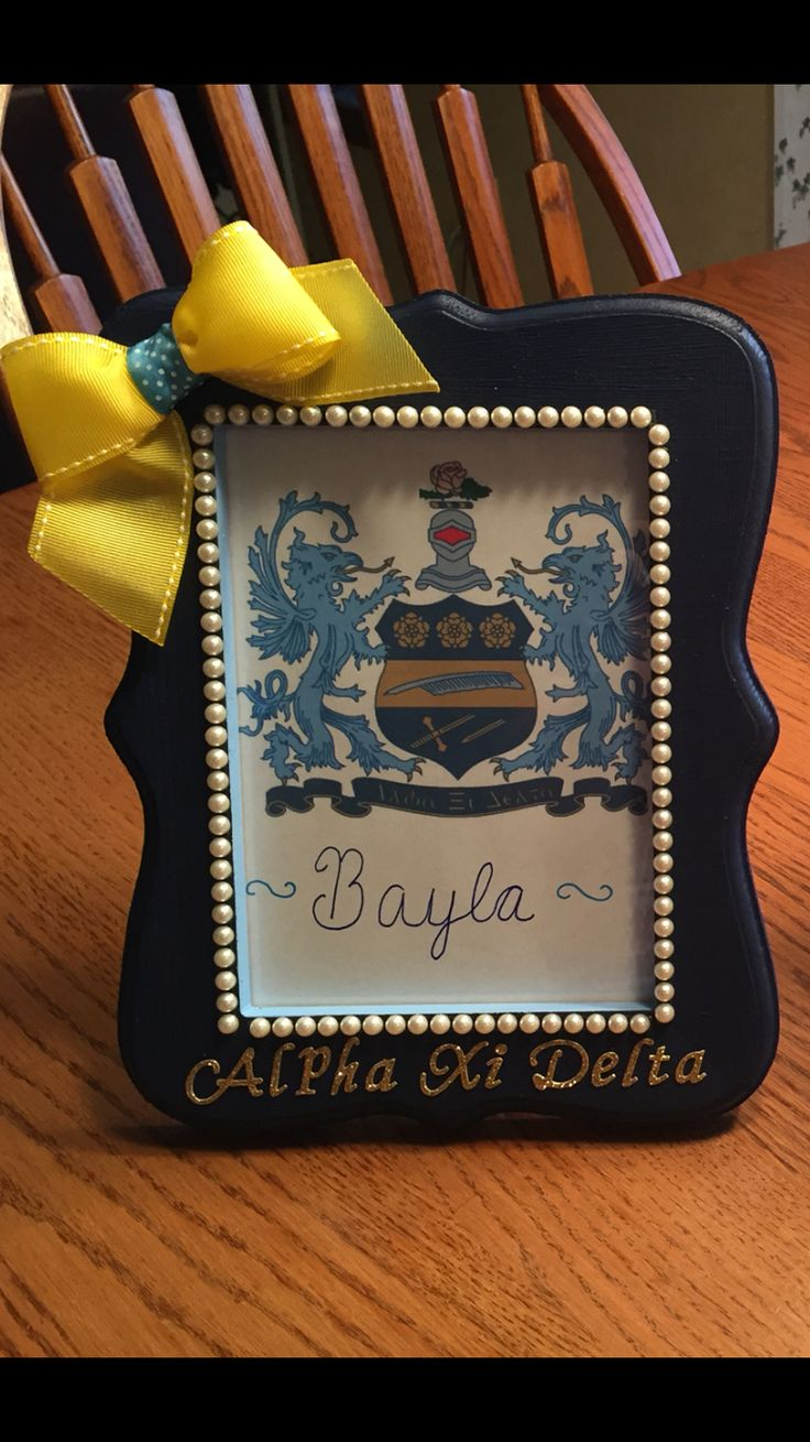 Sorority picture frame  Alpha Xi Delta