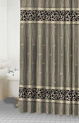 Safari-Brown Shower Curtain  Item #: 34048