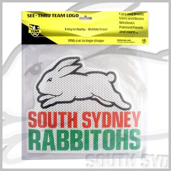 Rabbitohs See-Thru Car Logo Sticker $14.95